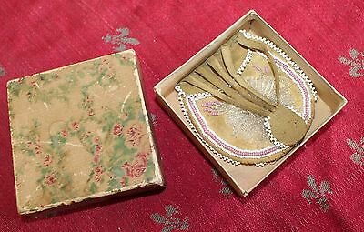 Antique Victorian Beaded Leather Indian Miser Coin Purse