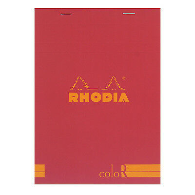 Rhodia A5 No 16 Color Premium Stapled Lined Notepad 70 Sheets 6x8 1/4 Raspberry