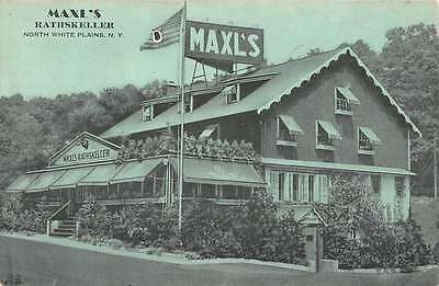 North White Plains New York Maxls Rathskeller Antique Postcard K56240