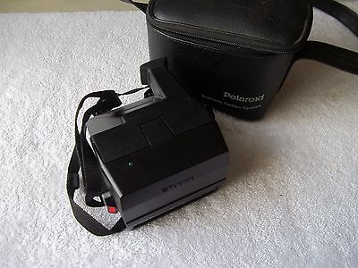 Vintage Polaroid 600 Business Edition Instant Film Camera With Case & Strap