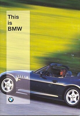 1997 BMW Full Line Automobile & Motorcycle Brochure Z3 M3 d0713
