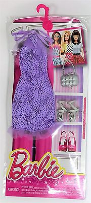 Mattel DNV24 Barbie Fashions Outfit and Accessories for Doll - PURPLE Dress