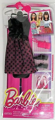 Mattel DNV25 Barbie Fashions Outfit and Accessories for Doll - BLACK SPOTS Dress
