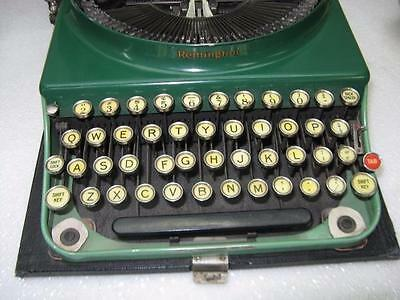 VINTAGE Green REMINGTON TYPEWRITER for Parts or Repair ~GREAT COLOR