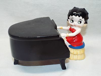 Ceramic BETTY BOOP Playing the Piano ~ Music Box & Figurine Bin