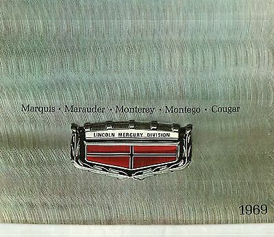1969 Mercury Cougar, Montego, Monterey, Full-Line Deluxe Color Sales Catalog