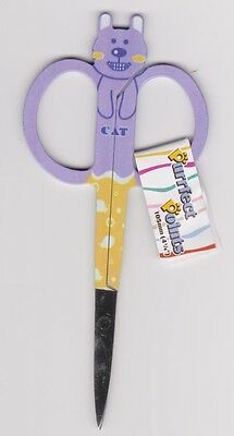 Purrfect Points Purple Embroidery Scissors