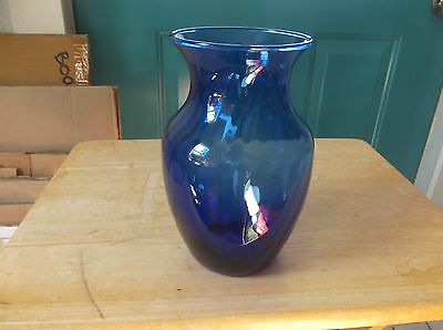 Indiana Glass Blue Glass 7 1/2-Inch High Flower Vase