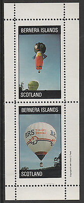 GB Locals - Bernera 2825 - AVIATION - BALLOONS perf sheetlet unmounted mint