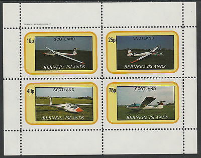 GB Locals - Bernera 2834 - AIRCRAFT - GLIDERS perf sheetlet unmounted mint