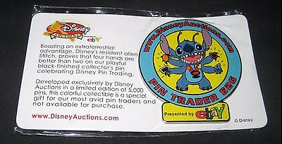 2001 eBay Disney Auctions Stitch Collectible Limited Edition Pin Trader 626 Mint