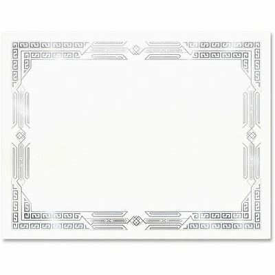 First Base Linen Certificates with Foil 83424