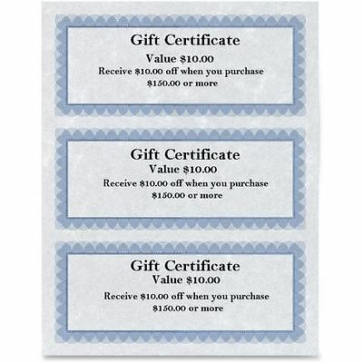 First Base Regent Gift Certificate 83403