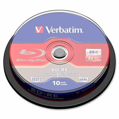 Verbatim BD-RE 25GB 2X with Branded Surface - 10pk Spindle Box 43694