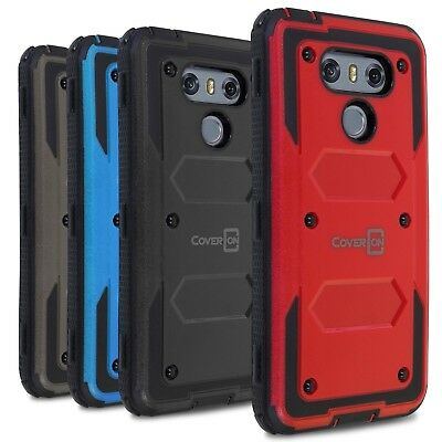 CoverON for LG G6 / G6 Plus Case [Tank Series] Hard Hybrid Shockproof Cover