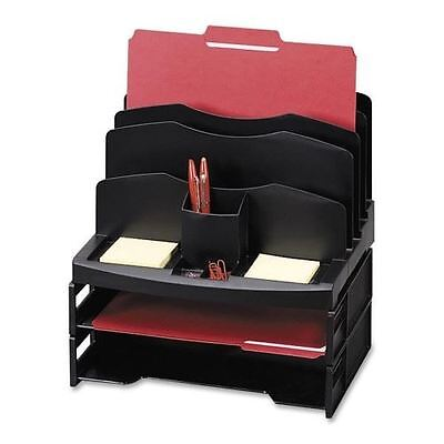 Sparco Smart Solutions Organizer with Two Letter Tray 26372
