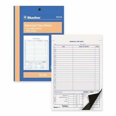 Blueline Bilingual Time Sheet D224