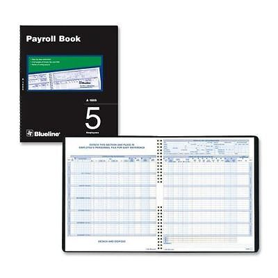 Blueline Five Employees Payroll Book A1005
