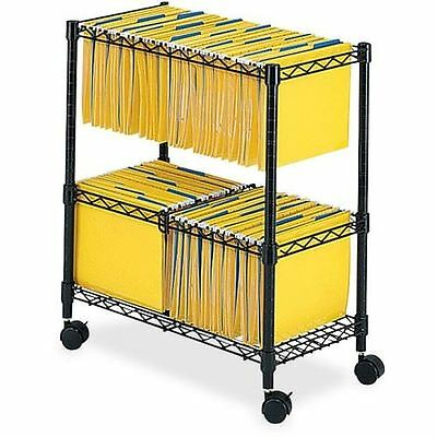 Safco 2-Tier Rolling File Cart 5278BL