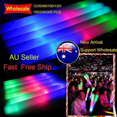 12~200PCS LED Light Up Foam Stick New Arrival Flash Glow Stick Party Cheer Baton