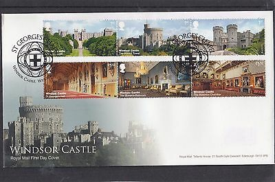 GB 2017 Windsor Castle Royal Mail First Day Cover FDC St Georges Chapel pict pmk