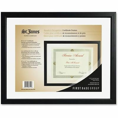 First Base Black Floating Certificate Frame 83914
