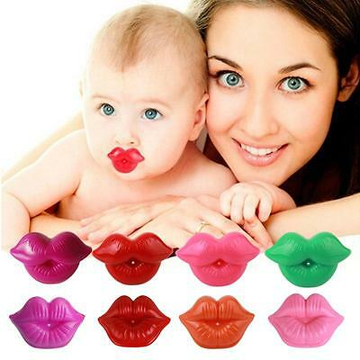 Funny Baby Pacifiers Kiss Lip Toddler Infant Soother Nipples Teether Silicone B