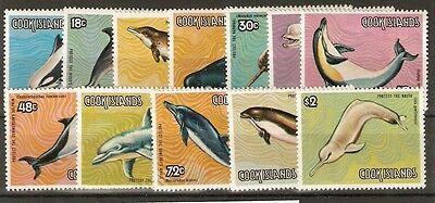 Cook Islands Sg946/57 1984 Dolphins & Whales Set Mnh