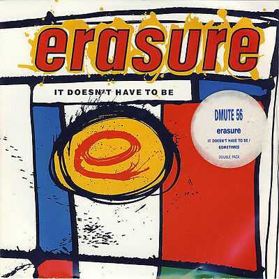 """Erasure, It Doesn't Have To Be/Sometimes, NEW/MINT Double 7"""" vinyl singles set"""