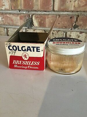 Vintage COLGATE Shaving Cream Jar With Original Box 8 OZ. Size