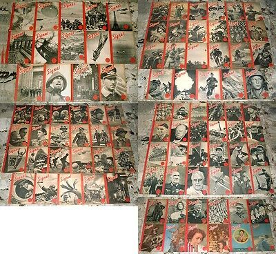 RARE: complete set of the 96 french WW2 SIGNAL Magazines from june 40 to june 44