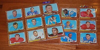 Lot of (16) Different 1966 Topps Football Cards