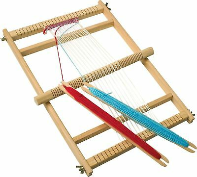 New Deluxe Wooden Weaving Loom & Shuttles. Weave Retro Woollen Items Legler 7490