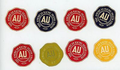13 Authentic Vintage AMERICAN RACING PIGEON UNION Seals 1940's