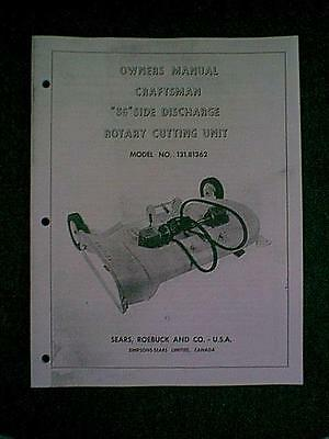 """Sears Craftsman Tractor 36"""" Mower Deck Model # 131.81362 Owner's Parts Manual"""