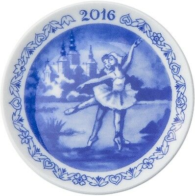 ROYAL COPENHAGEN 2016 Christmas Plaquette / Plate - New in Box - Ballet Dancers