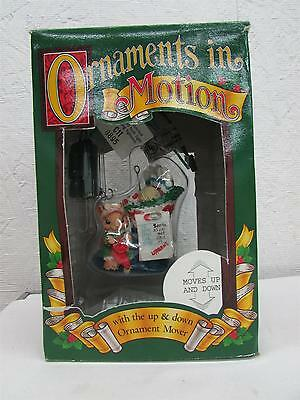 1995 Enchanted Workshop Ornaments in Motion Mouse Christmas Ornament IOB
