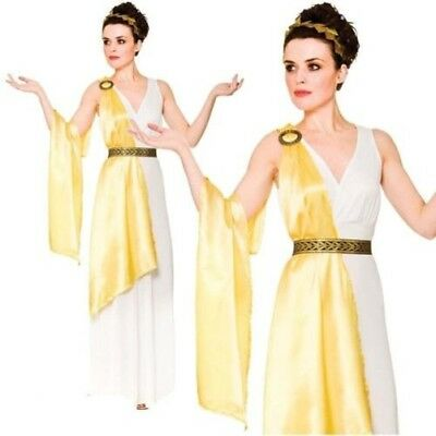 Sexy Ladies Roman Toga Ancient Greek Goddess Costume Fancy Dress Outfit