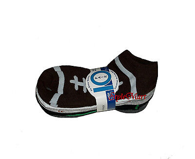 NEW Boys 10 Pair Pack Sports Theme No Show Ankle Socks Large Shoe Size 4-10