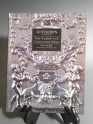 Sotheby's Fine English & Continental Silver New York October 28 1992 Catalog