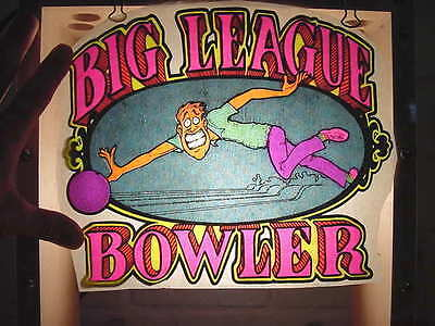 "1970's Vintage Original ""Big League Bowler"" Iron-on Transfer Unused"
