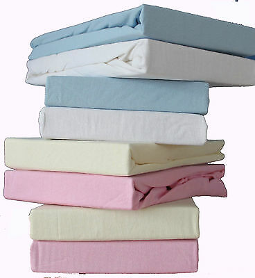 Pack of 2, Baby Cot Supersoft Jersey Fitted Sheet 100% Cotton 60x120cm.