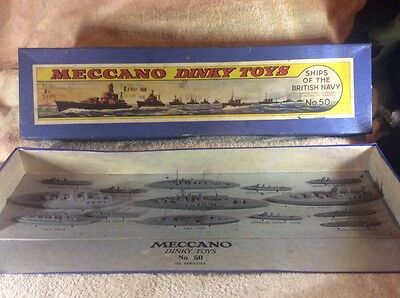 rare vintage 1936 meccano dinky toys ships of the british navy no.50