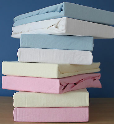 Jersey 100% Cotton Fitted sheet,MosesBasket/Travel Cot/Crib & Cot Bed&Next2me