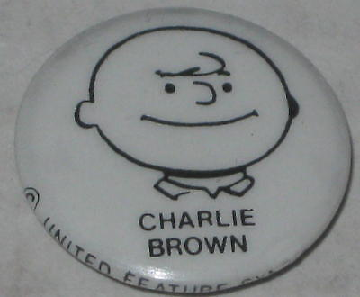 """Old-Style Charlie Brown Pin 1"""" - Original  FREE Shipping"""