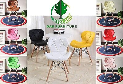 MOF Eiffel Style Dining Chairs Wood Legs & Comfortable Padded Seat