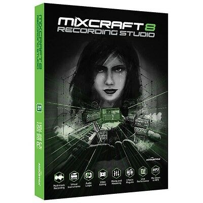 Acoustica Mixcraft 8 Recording Studio Music Production Software Download *New*
