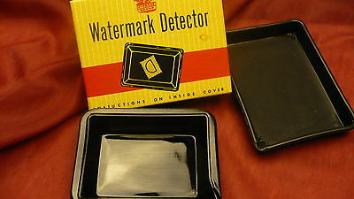 Watermark detector glass tray boxed HYGRADE BRAND stamp collector philately