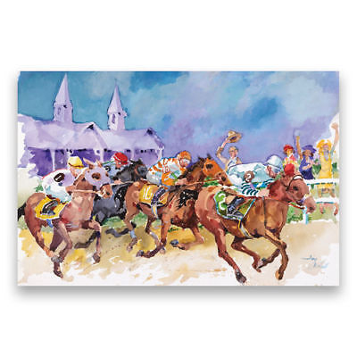 Kentucky Derby Art of the Derby KY Derby Post Card - Horse Racing
