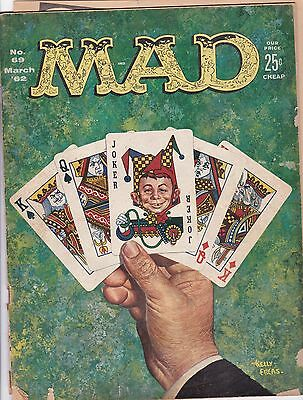 Vintage March 1962 MAD Comic Magazine #69 Alfred E Neuman